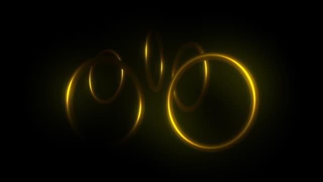 Spinning Golden Rings loop video