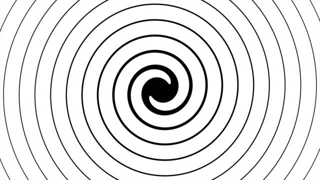 animazione astratta ipnotica rotante con mascherino luma opzionale. alpha luma matte incluso. video 4k - onirico video stock e b–roll