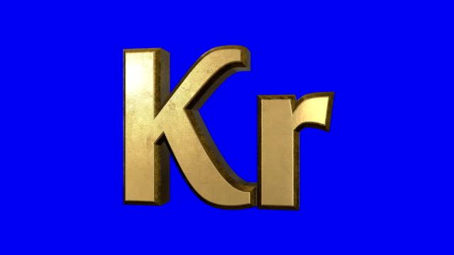 Spinning Krona Sign Screen video