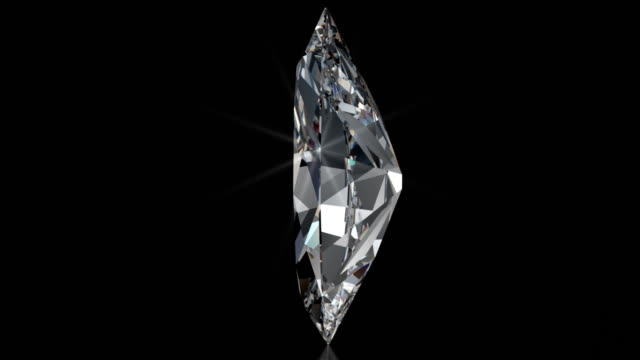 Spinning MARQUISE Cut Diamond with Sparkles video