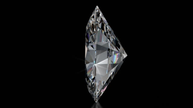 Spinning OVAL Cut Diamond with Sparkles video