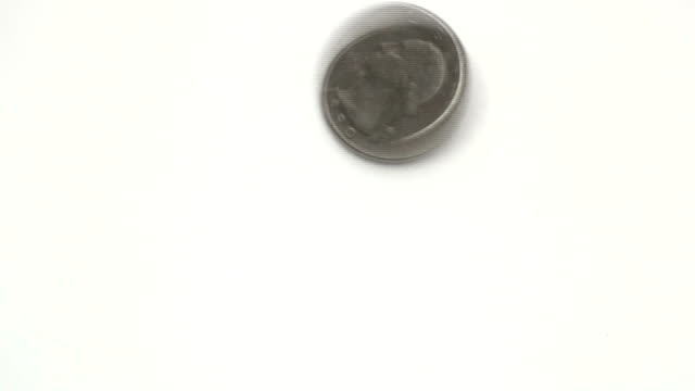 Spinning quarter - HD video