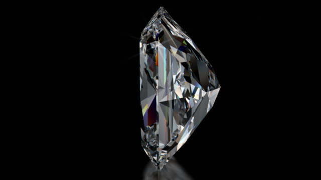 Spinning RADIANT Cut Diamond with Sparkles video