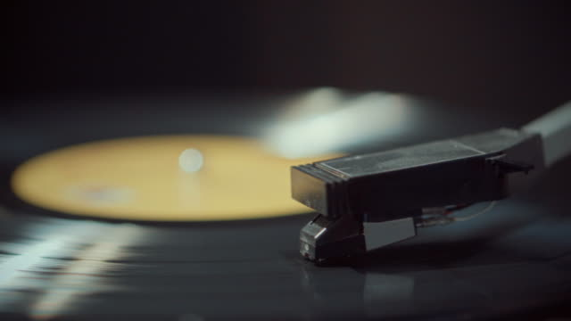 Spinning Record,Close-up