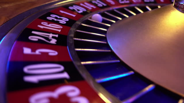 Spinning Roulette Wheel - ball falls on field 20 black video