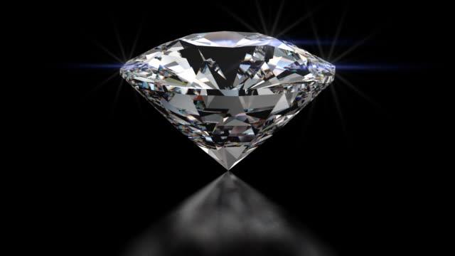 hd filatura diamante taglio brillante rotondo - brillante video stock e b–roll