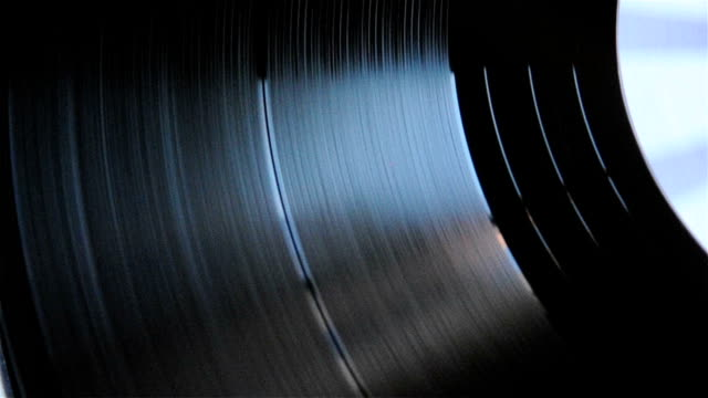 Spinning Vinyl Disc Close-ups video