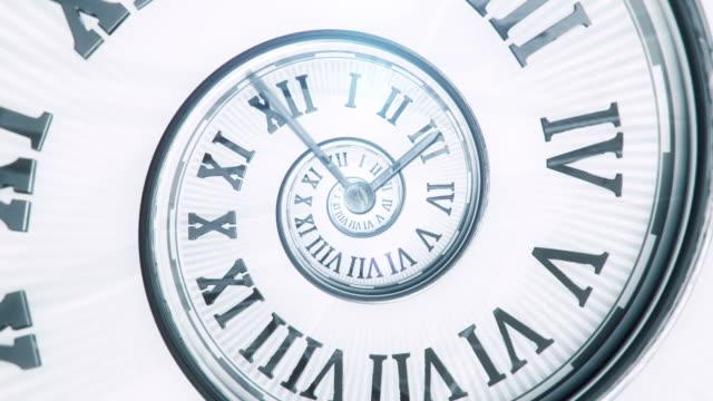 Spiral Clock (Bright, Centered) - Loop video