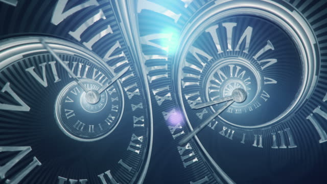 Spiral Clock (Dark, Double) - Loop video