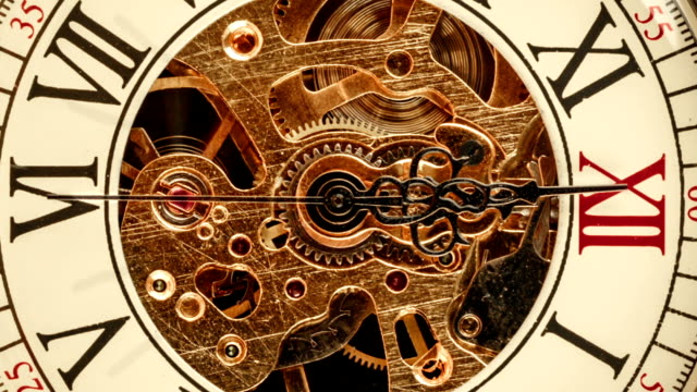 Spiral clock track of time video