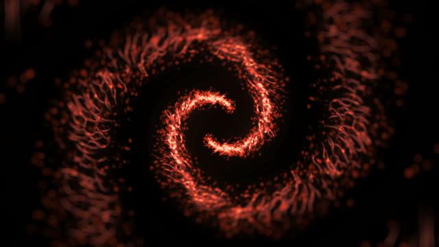 vidéos et rushes de cercle de poussière d'étoile scintillant en spirale des particules pétillantes de traînée - nageoire caudale