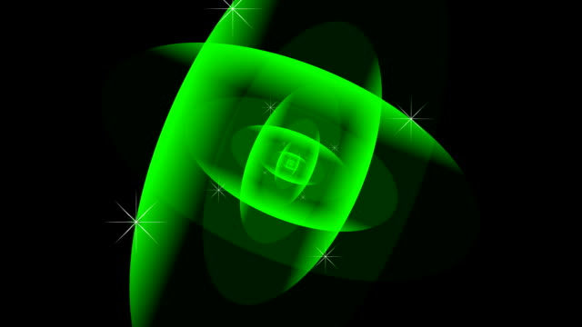 Spiral. Green. Media background. Loop able File. video