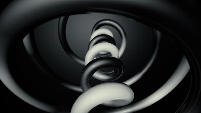 3d spiral tornalama - dans müziği stok videoları ve detay görüntü çekimi
