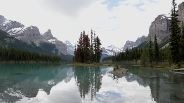 Spirit Island in Maligne Lake, Jasper National Park in Alberta, Canada