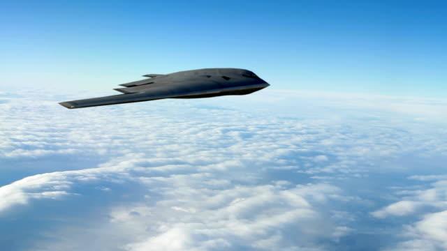 b -2 精神ステルス爆撃機 - こっそり点の映像素材/bロール