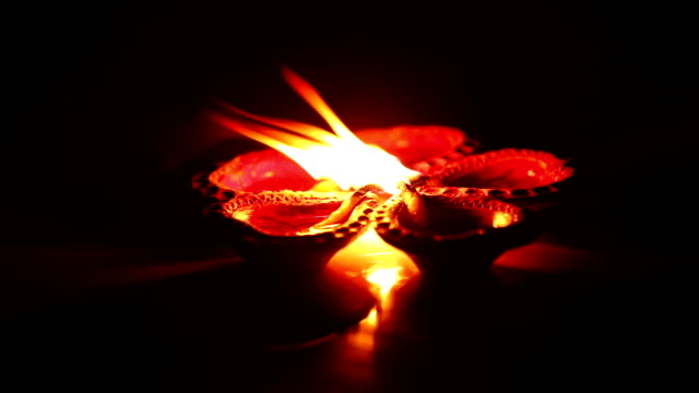 Spiritual fire flame (Diya, Oil Lamp) video