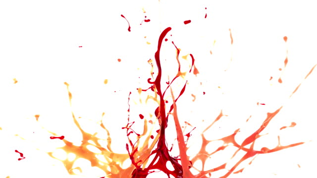 splash of orange, red and coral color liquid - fruit stock videos and b-roll footage