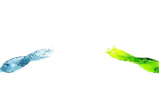 splashes of colored liquid video