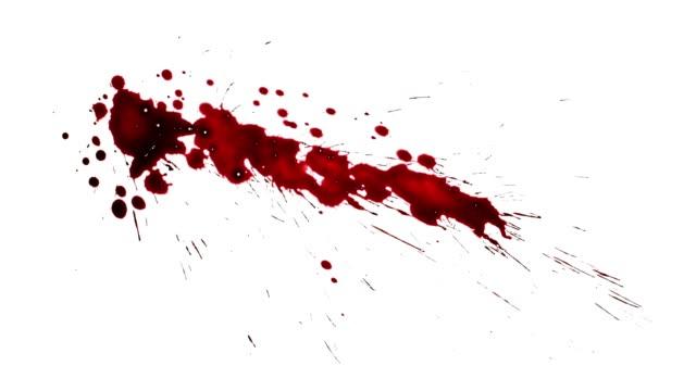 stockvideo's en b-roll-footage met spatten van rode verf. bloedspetters set. horror film effecten - bloed