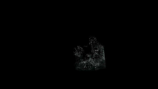 splashes of water on a black background alpha channel splashes liquid