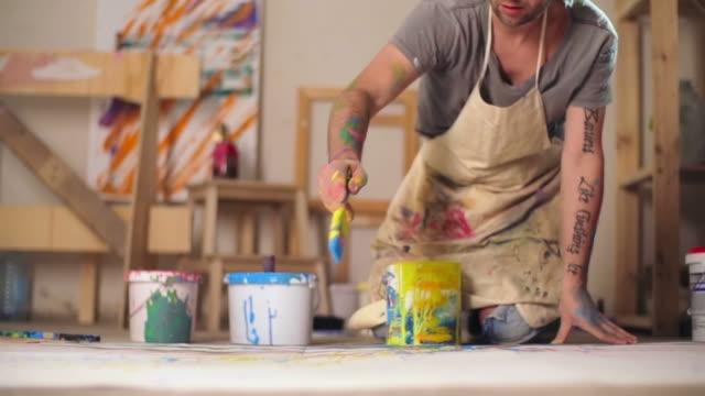 Splatter Painting video