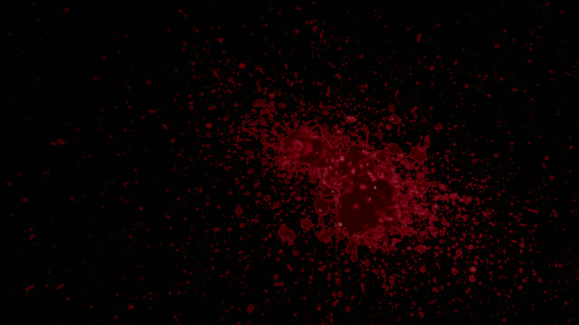 stockvideo's en b-roll-footage met spetterde bloed element - bespatterd