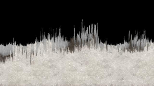 Splintery Wintery Tree Line scrolling with luma matte 2 video