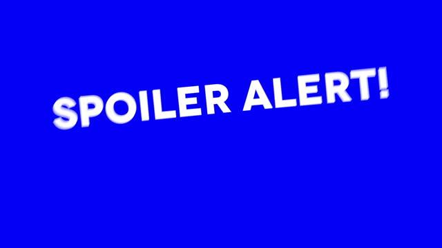 animacja alertu spoilera. fabuła odsłaniająca tytuł - spoiler filmów i materiałów b-roll