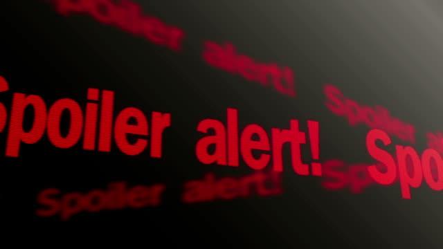 kleiner tipp text laufen auf dem fernseher. plot zeigen warnung - wachsamkeit stock-videos und b-roll-filmmaterial
