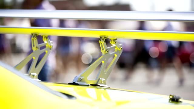 spoiler of sport car - spoiler filmów i materiałów b-roll