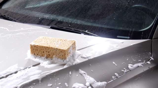 Sponge for washing cars video