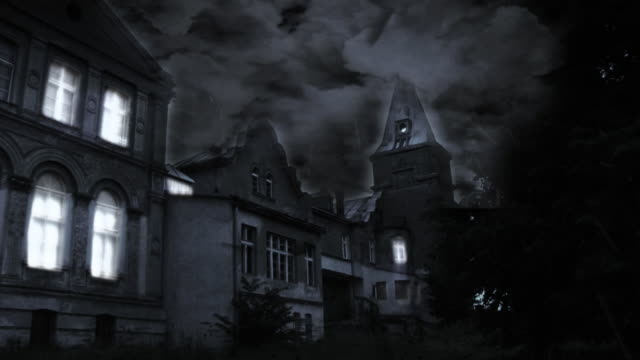 spooky castle hd - gothic architecture stock videos & royalty-free footage