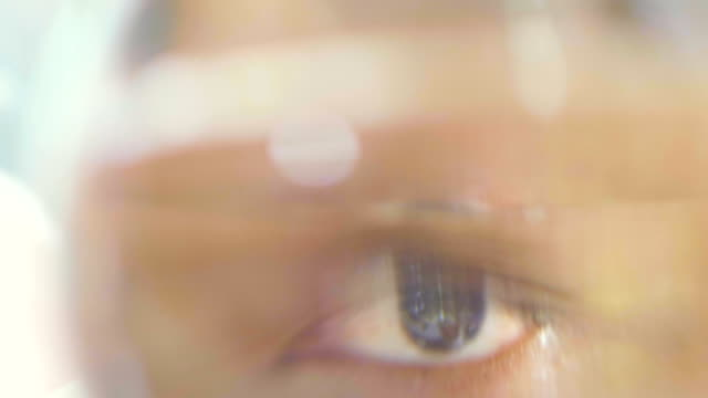 Spooky Eye Male eye eye exam stock videos & royalty-free footage