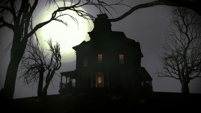 vídeos de stock e filmes b-roll de assustador casa ii. - mansão imponente