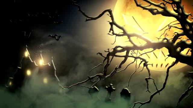 Spooky scenery (green) - Loop video