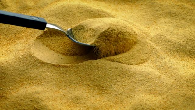Spoon Scoops Up Food Powder video