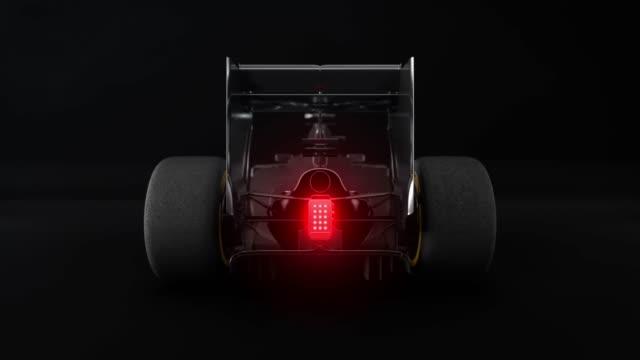 Sport car rear view video