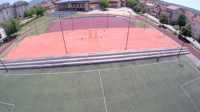 Sport tracks - arial view video