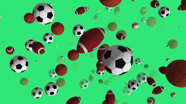 Sports 3D animation 4K Alpha