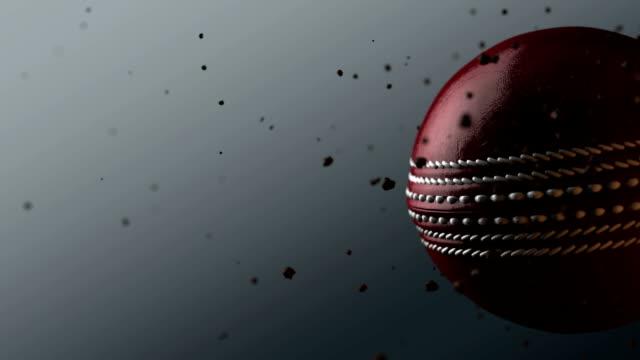 vídeos y material grabado en eventos de stock de deportes la bola girar cricket ball rojo - críquet