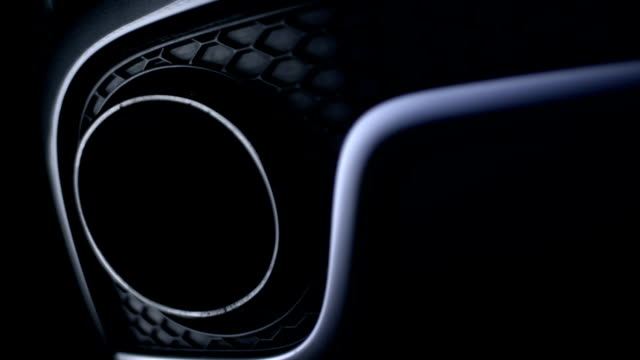 Sports car details close-up video