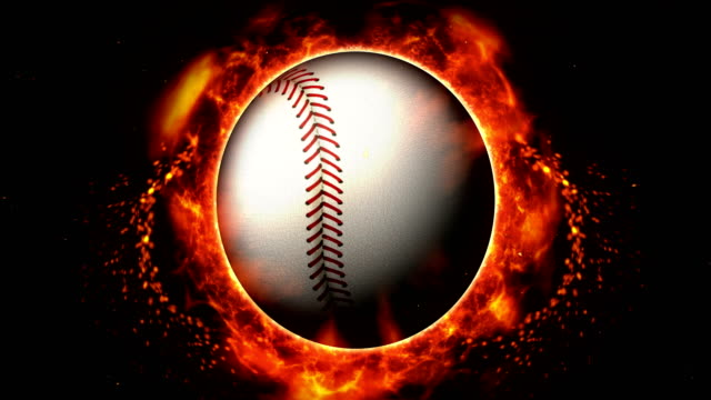 Sports Fight Backgrounds, Baseball, Loop Animation, Burning Fire Flames with Sparks, Sports Abstract Background, international match stock videos & royalty-free footage