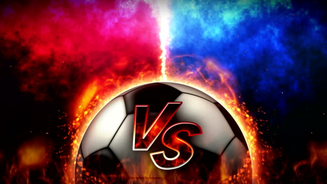 Sports Fight Backgrounds, Soccer Ball, Loop Animation,