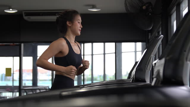 sports person lifestyle, athlete woman exercise in gym fitness for health .