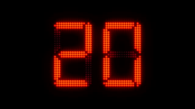 Sports Shot Clock Countdown From 27 to 0 video