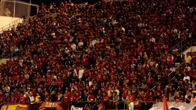 Sports stadium. Defocused. Crowd at sports stadium. video