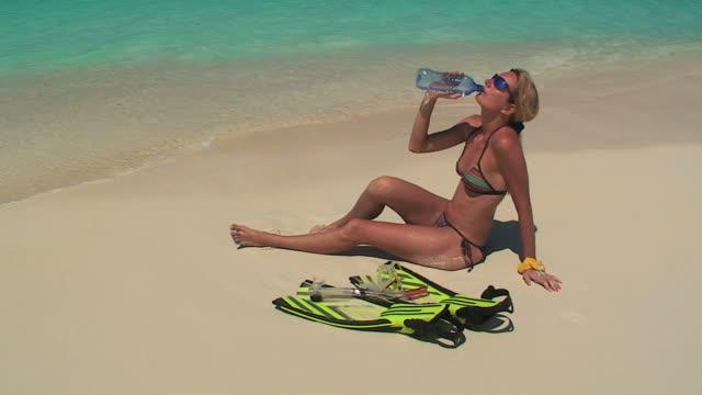 Sporty woman' rest video