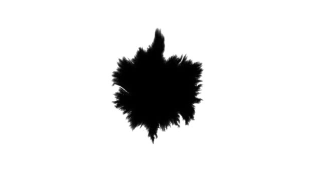 Spot ink spread on a white sheet of paper HD Blot of black paint spread on white background HD 1920x1080 ink stock videos & royalty-free footage