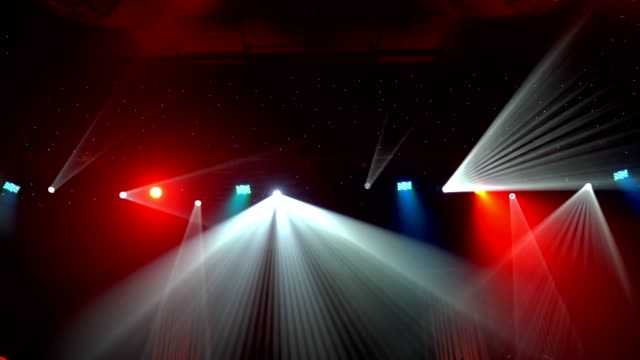 Spot Lights Background Loop Nightclub, Stage - Performance Space, Entertainment Club, Theatrical Performance, Performing Arts Event stage light stock videos & royalty-free footage