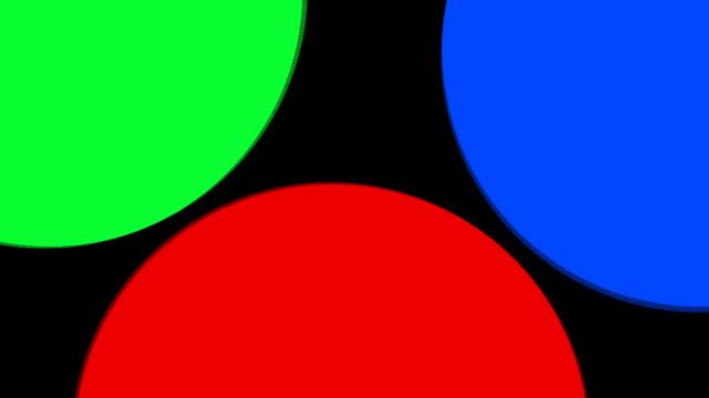 RGB Spotlights + ALPHA channel FullHD 1080i LOOP video